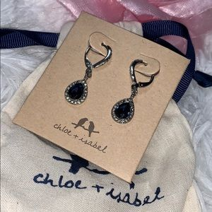 Chloe + Isabel sapphire silver earrings maree new